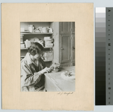 Unidentified student, clay modeling, Department of Applied and Fine Arts, Rochester Athenaeum and Mechanics Institute