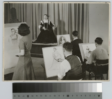 Academics, Art and Design, Rochester Athenaeum and Mechanics Institute life drawing class, 1941-1942