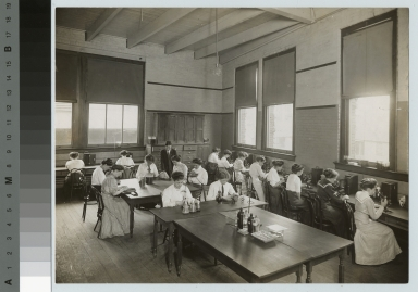 Academics, biology, Rochester Athenaeum and Mechanics Institute women's biology class, [1912-1913]