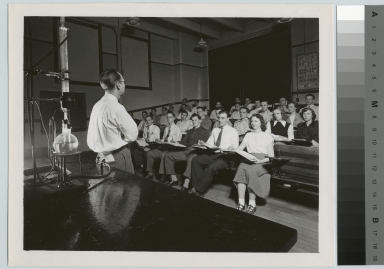 Academics, chemistry, Rochester Institute of Technology chemistry class with the instructor James Wilson, 1950