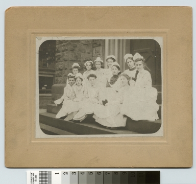 Academics, class photo, group portrait of the eighth grade girls from Rochester public school no. 29, 1906