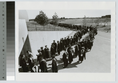 Students line up for commencement, Rochester Institute of Technology [1976]