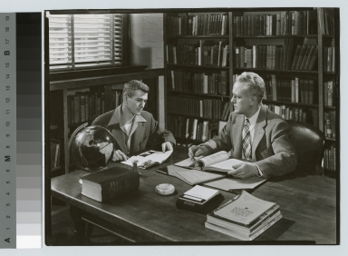 Unidentified student and Byron Culver, Counseling Center, Rochester Institute of Technology [1950-1955]