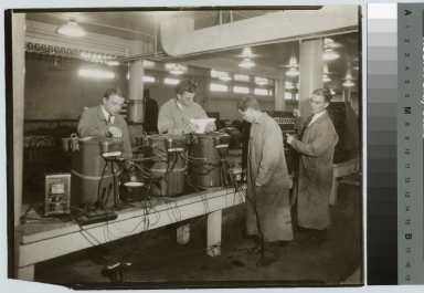 Students in electrical laboratory, Electrical Department, Rochester Athenaeum and Mechanics Institute [1925-1935]