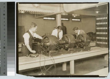 Students studying in electrical laboratory, Electrical Department, Rochester Athenaeum and Mechanics Institute [1925-1935]