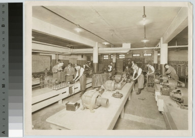 Students in electrical laboratory, Electrical Department, Rochester Athenaeum and Mechanics Institute [1920-1929]