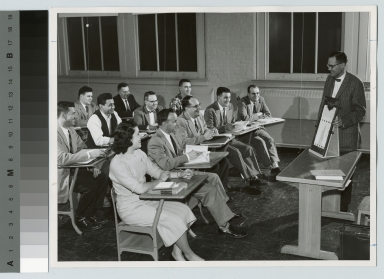 Quality control class, Rochester Institute of Technology, [1950-1960]