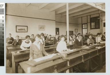 Mechanical Drawing class, School of Industrial Arts, Rochester Athenaeum and Mechanics Institute [1910-1920]