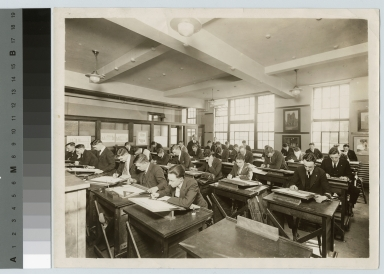 Students in Mechanical Drawing class, School of Industrial Arts, Rochester Athenaeum and Mechanics Institute [1920-1930]