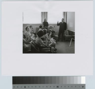 Finger spelling class, Rochester Institute of Technology [1968]