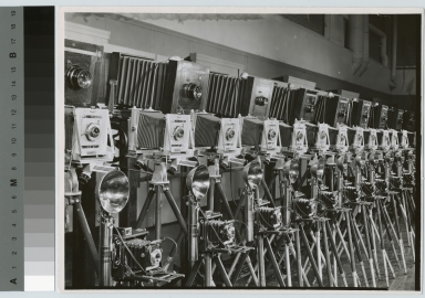 Row of cameras, Department of Photographic Technology, Rochester Institute of Technology
