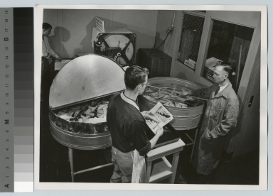 Donald Smith instructs student, Department of Photographic Technology, Rochester Institute of Technology