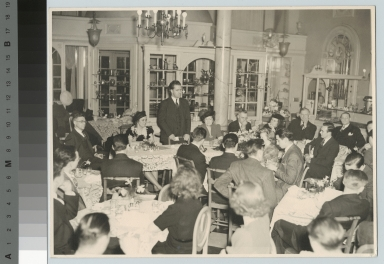 President Ellingson addresses banquet, Department of Photographic Technology, Rochester Athenaeum and Mechanics Institute