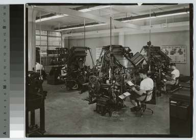 Print shop, Department of Publishing and Printing, Rochester Institute of Technology