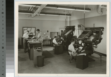 Intertype machine operation, Department of Publishing and Printing, Rochester Institute of Technology