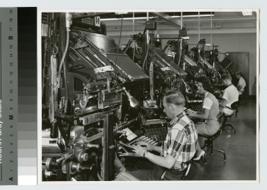 Machine composition laboratory, Department of Publishing and Printing, Rochester Institute of Technology