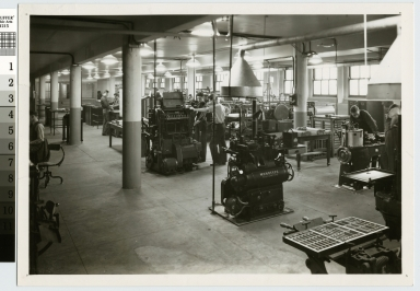 Printing workshop, Department of Publishing and Printing, Rochester Athenaeum and Mechanics Institute