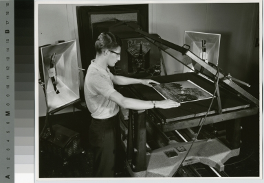 Student in Reproduction Photograph Laboratory, Department of Publishing and Printing, Rochester Institute of Technology