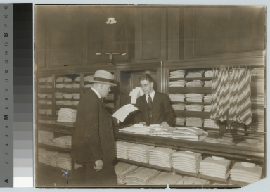 Unidentified student on retailing co-op, Rochester Athenaeum and Mechanics Institute