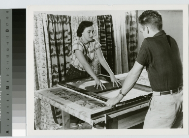 Students designing textiles, School for American Craftsmen, Rochester Institute of Technology