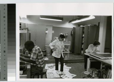 Students in laboratory, School for American Craftsmen, Rochester Institute of Technology
