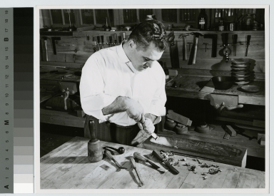 Woodworking student, School for American Craftsmen, Rochester Institute of Technology