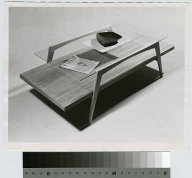 Two-tiered coffee table, School for American Craftsmen, Rochester Institute of Technology