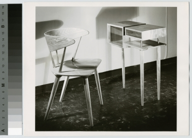 Small desk and wood chair, School for American Craftsmen, Rochester Institute of Technology