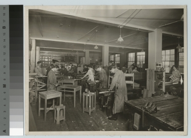 Students in woodworking class, Department of Manual Training, Rochester Athenaeum and Mechanics Institute