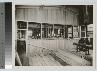 Carpentry students in woodworking shop, Department of Manual Training, Rochester Athenaeum and Mechanics Institute