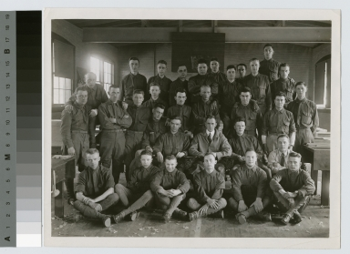 Portrait of World War I soldiers. Manual Training Building, Rochester Athenaeum and Mechanics Institute