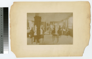 Students in painting class, Department of Applied and Fine Arts, Rochester Athenaeum and Mechanics Institute