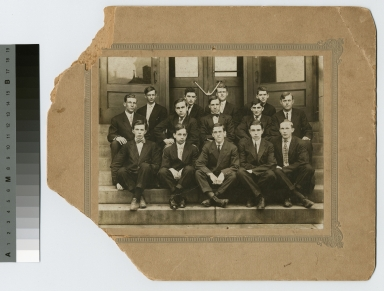 Fraternities, Phi Sigma Phi group portrait, 1909