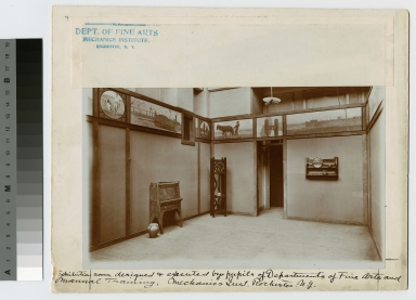 Exhibition room designed by pupils of Departments of Fine Arts and Manual Training. Mechanics Institute, Rochester, New York
