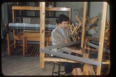 School for American Craftsman, student in weaving, 1958