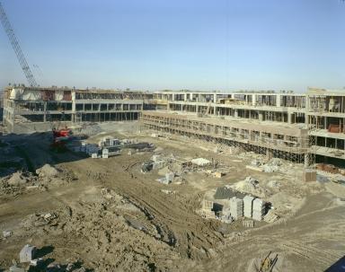 Construction of James E. Booth Hall and Frank E. Gannett Hall