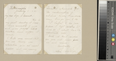 Calvin Coolidge letter to O'Connell