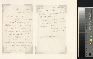 Ulysses S. Grant letter to General Hamilton