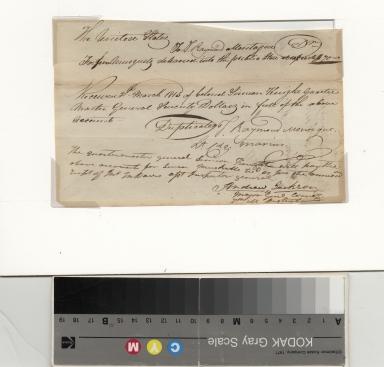 Andrew Jackson receipt