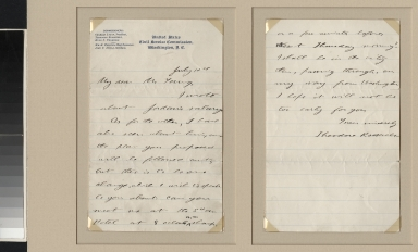 Theodore Roosevelt letter to Young