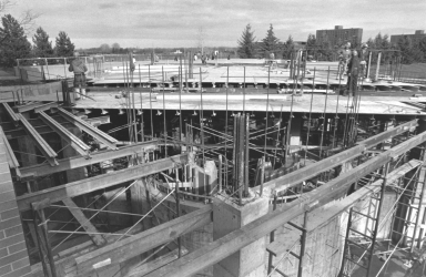 Construction of the Kilian J. and Caroline F. Schmitt Interfaith Center