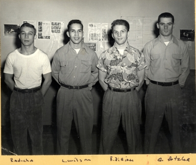 Members of the 1954 Undefeated Wrestling Team
