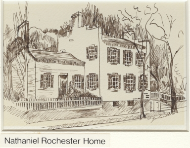 Sketch of Nathaniel Rochester's Home