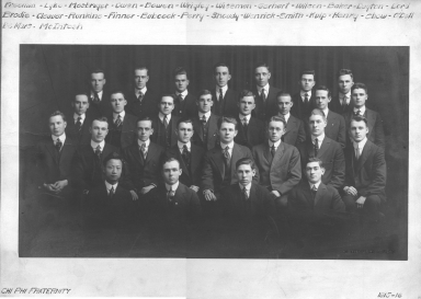 Brothers of Chi Phi Fraternity, 1915-16