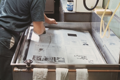 Washing Newsprint Plate