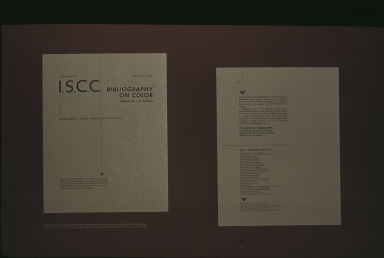I.S.C.C. Bibliography On Color