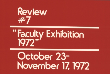 Faculty Show 1972