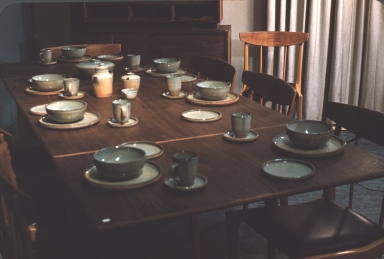 Table with Seven Sets of Tableware by David Giorgi