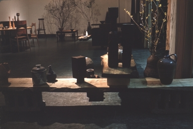 Exhibition of ceramic pieces and furniture