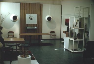 Exhibition of furniturte and ceramic pieces